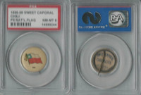 P6 American Tobacco Pins, National Flag, 1898, Chili, PSA 8 NMMT