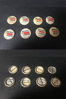 P6 American Tobacco Pins, National Flag, 1898, Costa Rica, 8 Different