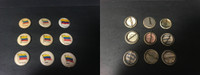 P6 American Tobacco Pins, National Flag, 1898, Ecuador, 9 Different