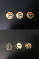 P6 American Tobacco Pins, National Flag, 1898, Netherlands, 3 Different