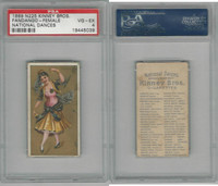 N225 Kinney, National Dances, 1889, Fandango Female, Spain, PSA 4 VGEX