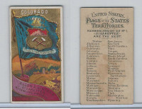 N11 Allen & Ginter, Flags of the States, 1888, Colorado