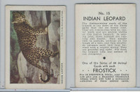 F55 Frostick, Animal Cards, 1933, #15 Indian Leopard
