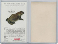 F213-3 Coca Cola, Nature Study, Water Life, 1920's, #9 Bull Frog