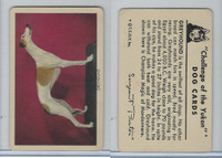 F279-5 Quaker, Challenge of the Yukon, Dog Cards, 1950, Greyhound