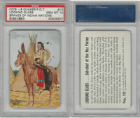 F279-8 Quaker, Braves of Indian Nations, 1956, #10 Looking, PSA 10 Gem