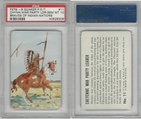 F279-8 Quaker, Braves of Indian Nations, 1956, #11 Cheyenne, PSA 10 Gem