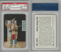 F279-8 Quaker, Braves of Indian Nations, 1956, #13 Dull Knife, PSA 8 NMMT