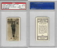L8-98 Lambert, Who's Who In Sports, 1926, #13 W. Amstutz, Skiing, PSA 6 EXMT