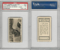 L8-98 Lambert, Who's Who In Sports, 1926, #19 JG Thomas, Racing, PSA 7 NM