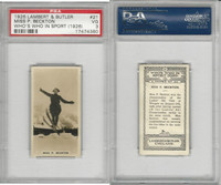 L8-98 Lambert, Who's Who In Sports, 1926, #21 P. Beckton, Skiing, PSA 3 VG