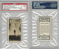 L8-98 Lambert, Who's Who In Sports, 1926, #22 D. Carlsen, Skiing, PSA 6 EXMT