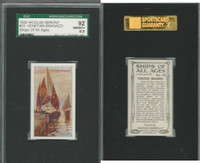 S26-16 Nicolas Sarony, Ships of all Ages, 1929, #15 Venetian Bragazzi, SGC 92