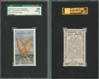 S26-16 Nicolas Sarony, Ships of all Ages, 1929, #16 Felucca Spanish, SGC 88 NMMT