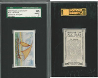 S26-16 Nicolas Sarony, Ships of all Ages, 1929, #18 Gaiassa, SGC 88 NMMT