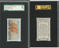 S26-16 Nicolas Sarony, Ships of all Ages, 1929, #21 Pengajap, SGC 84 NM