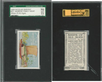 S26-16 Nicolas Sarony, Ships of all Ages, 1929, #22 Siamese Boat, SGC 70 EX+