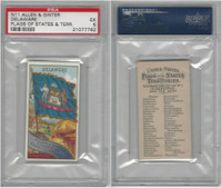 N11 Allen & Ginter, Flags of the States, 1888, Delaware, PSA 5 EX