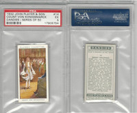 P72-87 John Player, Dandies, 1932, #14 Count Von Konigsmarck, PSA 5 EX