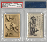A0-0 Amalgamated Press, Sports Queeriosities, 1933, Sail Skaters, PSA 8 NMMT