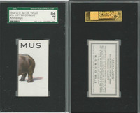 W62-110 W.D. & H.O. Wills, Animalloys, 1934, #15 Hippopotamus, SGC 84 NM