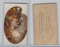 N228 Kinney, Novelties, 1890, Card Format, Artist's Pallette-Oval