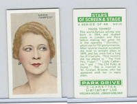 G12-100 Gallaher, Stars Of Screen & Stage, 1935, #10 Marie Tempest