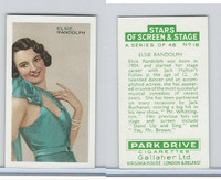 G12-100 Gallaher, Stars Of Screen & Stage, 1935, #18 Elsie Randolph
