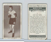 C82-34 Churchman, Boxing Personalities, 1938, #4 Jack Berg