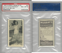 M164-42 Murray Sons, Bathing Belles, 1939, #4 Gladys Swarthout, PSA 8 NMMT