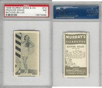 M164-42 Murray Sons, Bathing Belles, 1939, #12 Frances Drake, PSA 7 NM