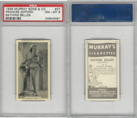 M164-42 Murray Sons, Bathing Belles, 1939, #37 Frances Gifford, PSA 8 NMMT