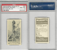 M164-42 Murray Sons, Bathing Belles, 1939, #39 Gertrude Michael, PSA 8 NMMT