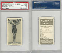 M164-42 Murray Sons, Bathing Belles, 1939, #40 Arlene Judge, PSA 8 NMMT