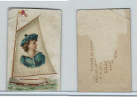 N228 Kinney, Novelties, 1890, Card Format, Sailing Yacht (Trim)