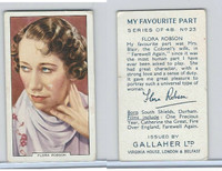 G12-90 Gallaher, My Favorite Part, 1939, #23 Flora Robson