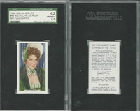 G12-90 Gallaher, My Favorite Part, 1939, #42 Ruth Chatterton, SGC 92 NMMT+