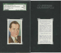 G12-90 Gallaher, My Favorite Part, 1939, #45 Robert Montgomery, SGC 92 NMMT+
