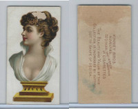 N228 Kinney, Novelties, 1890, Card Format, Statue-Bust of Girl