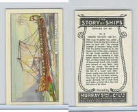 M164-52 Murray, Story of Ships, 1940, #2 Greek Galley, 400 BC