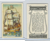 M164-52 Murray, Story of Ships, 1940, #20 East Indiaman, 1658,