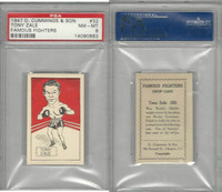C0-0 Cummings, Famous Fighters, 1947, #32 Tony Zale, PSA 8 NMMT
