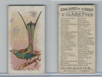 N23 Allen & Ginter, Song Birds of the World, 1890, Abyssinian Roller