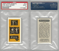 C0-0 Cadet Sweets, Buccaneers, 1959, #13 The Jolly Roger, PSA 9 Mint