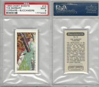 C0-0 Cadet Sweets, Buccaneers, 1959, #15 The Barbary Corsairs, PSA 9 Mint