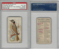 N23 Allen & Ginter, Song Birds of the World, 1890, Chinese Bulbul, PSA 4 MK