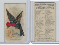 N23 Allen & Ginter, Song Birds of the World, 1890, Crested Malimbus