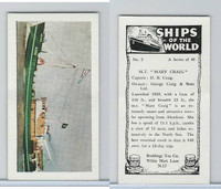 "R0-0 Reddings Tea, Ships Of The World, 1963, #2 M.T. ""Mary Craig"""