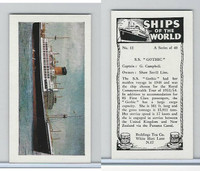 "R0-0 Reddings Tea, Ships Of The World, 1963, #12 S.S. ""Gothic"""