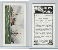 R0-0 Reddings Tea, Ships Of The World, 1963, #14 Ross Renown""